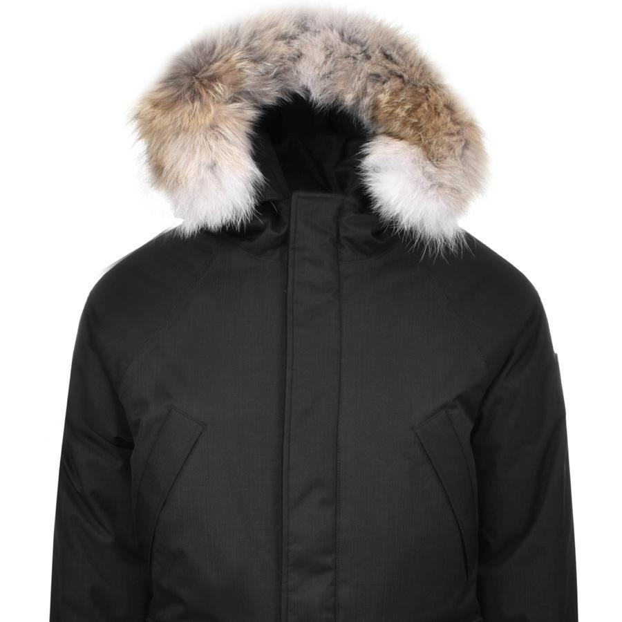 Nobis Fleece Heritage Parka Jacket Black for Men