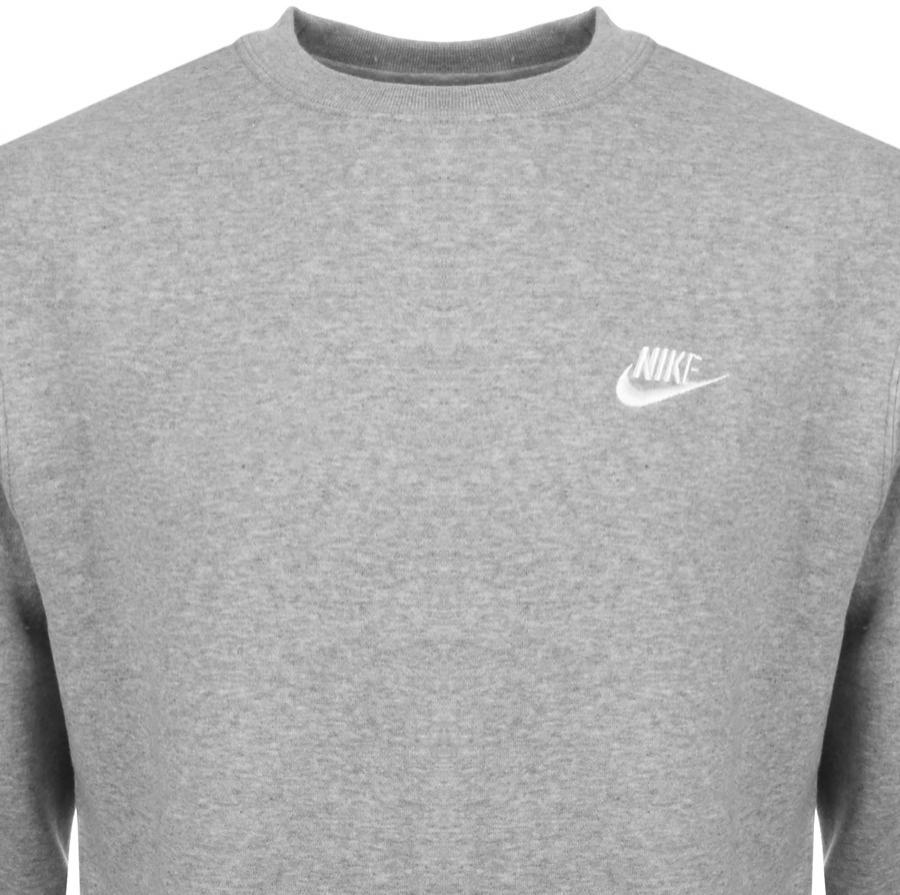 nike crew neck jumper grey