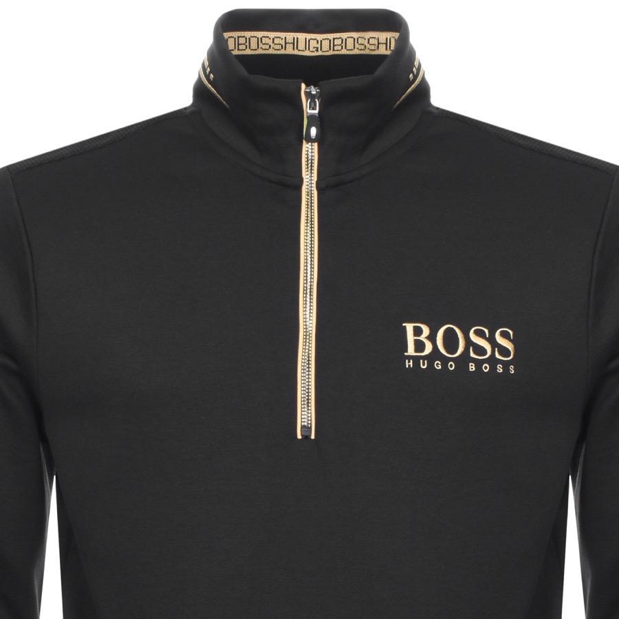 wholesale price search for best exquisite design Boss Green Sweat Half Zip Sweatshirt Black