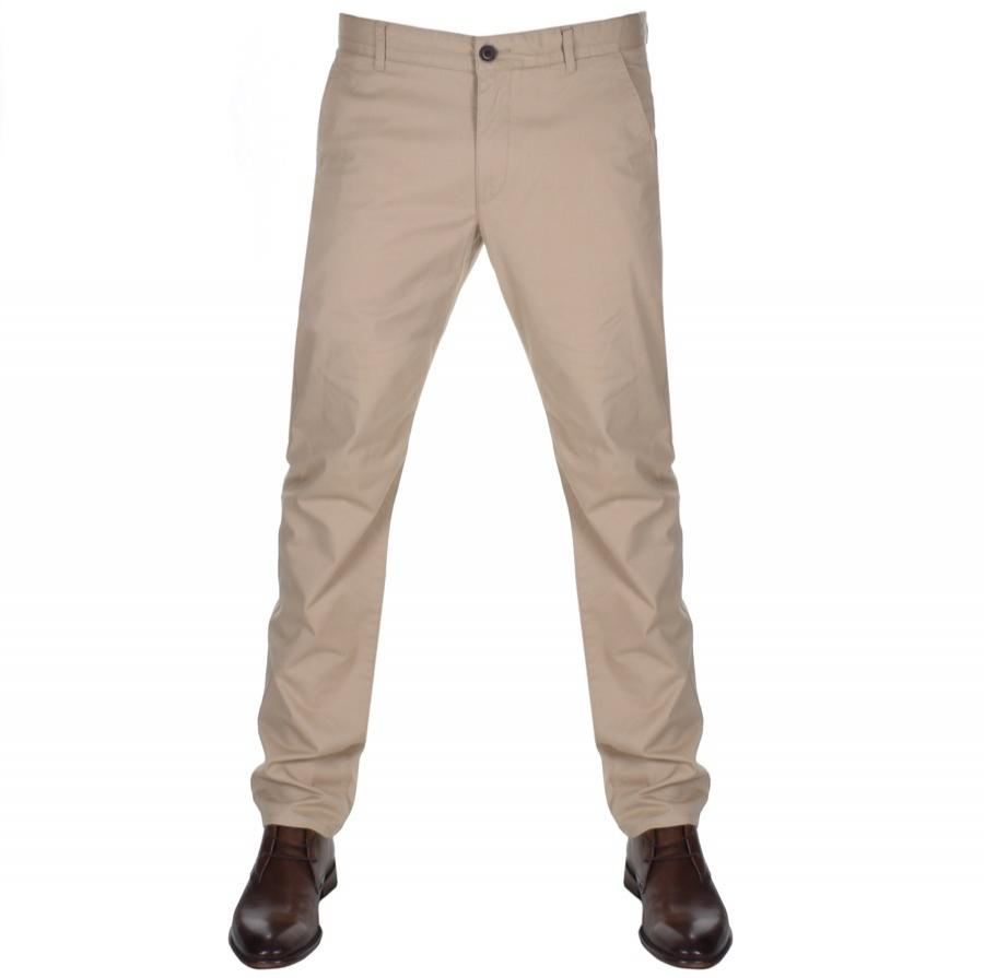 Farah Cotton Elm Chino Trousers Beige in Natural for Men