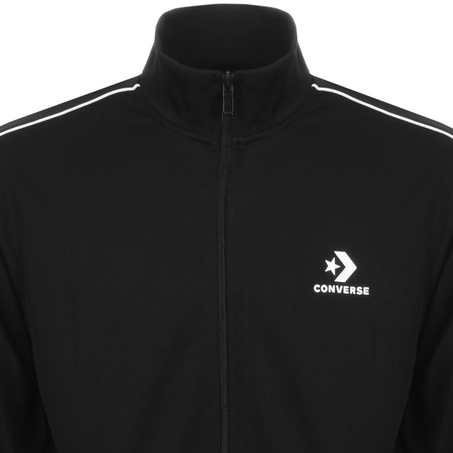 Converse Synthetic Star Chevron Logo Track Top Black for Men