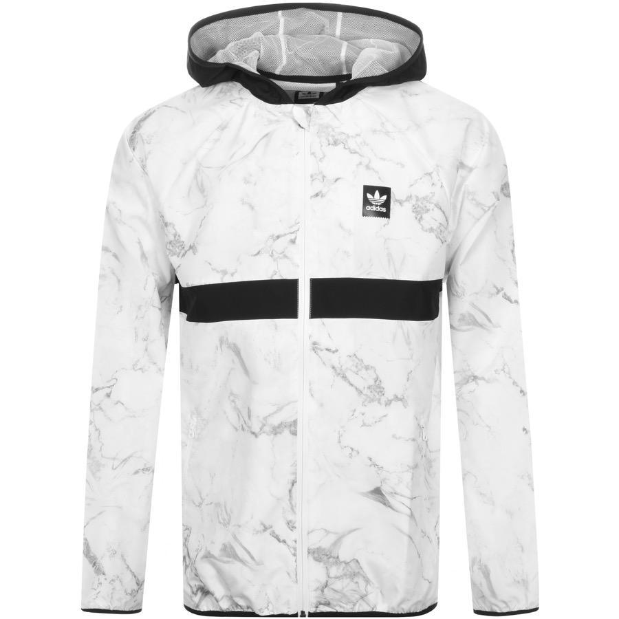 Lyst - adidas Originals Marble Windbreaker Jacket White in White for Men d2d283ea70