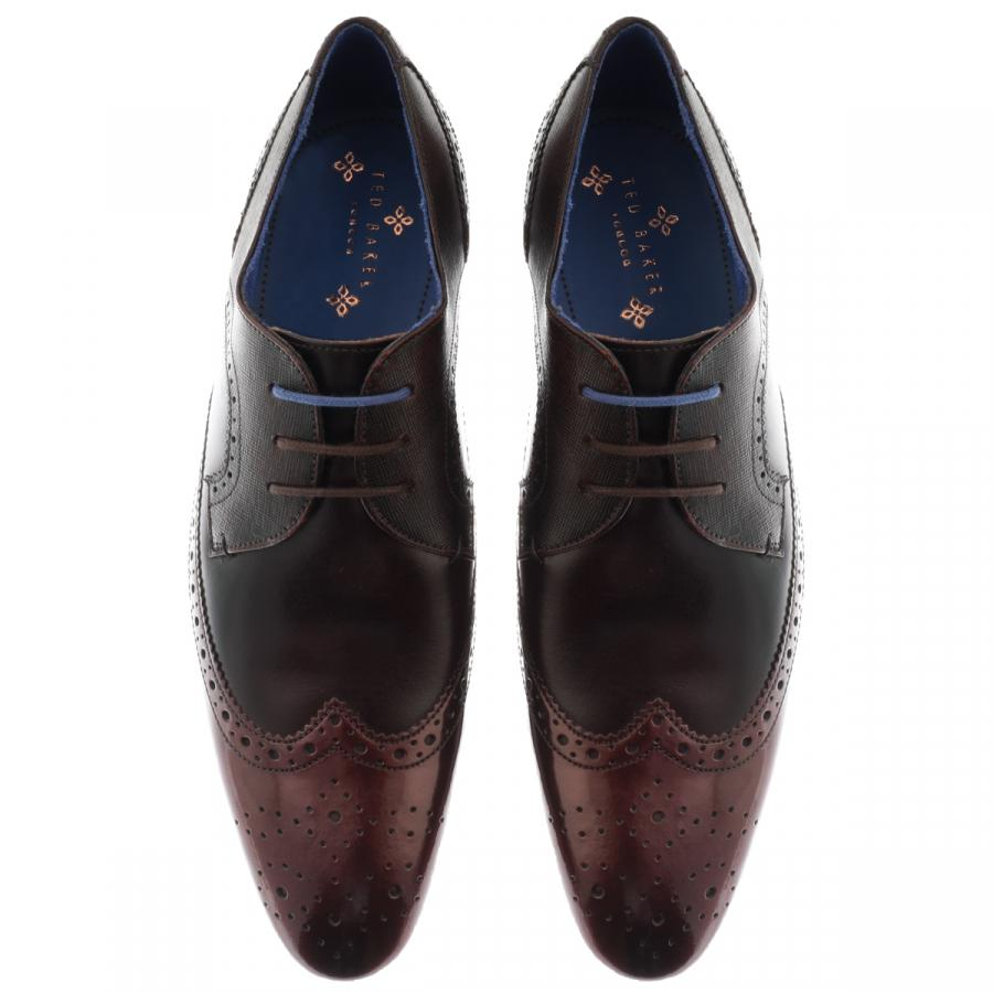 4b630e3fbb1af Ted Baker Oakke Leather Brogues Red in Red for Men - Lyst