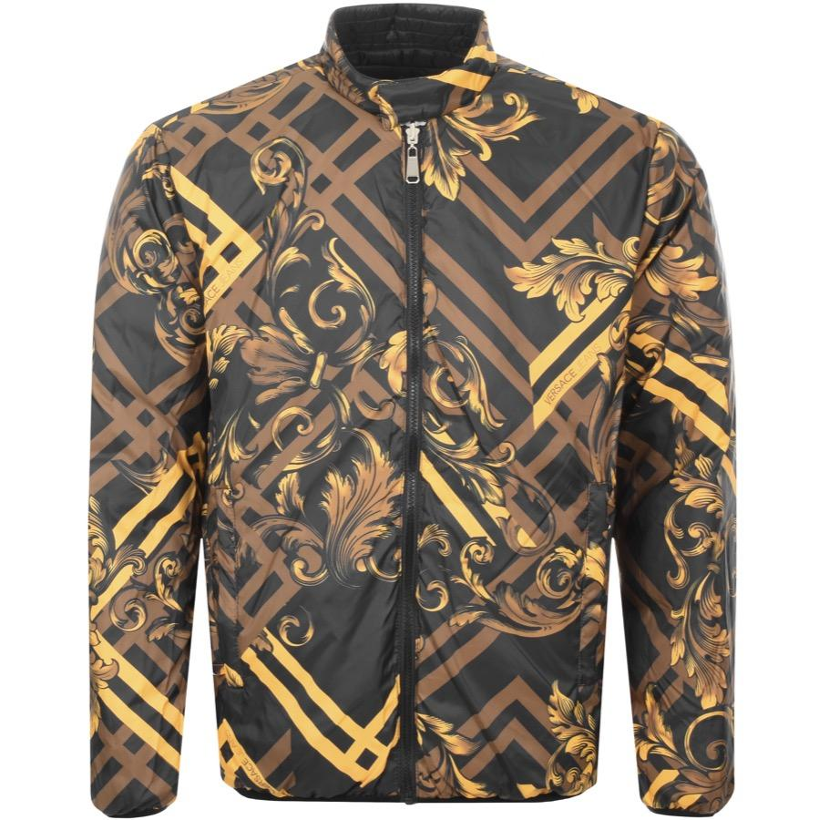 7a761b1d00 Versace Jeans Reversible Quilted Jacket Black in Black for Men - Lyst