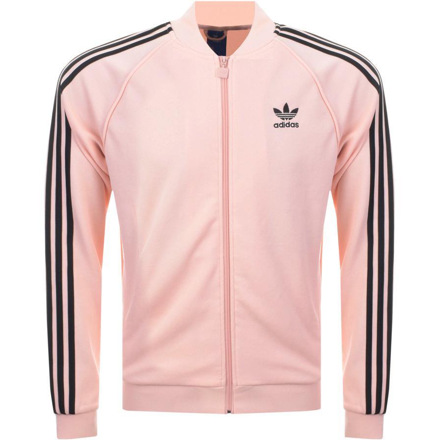 adidas originals superstar track top pink