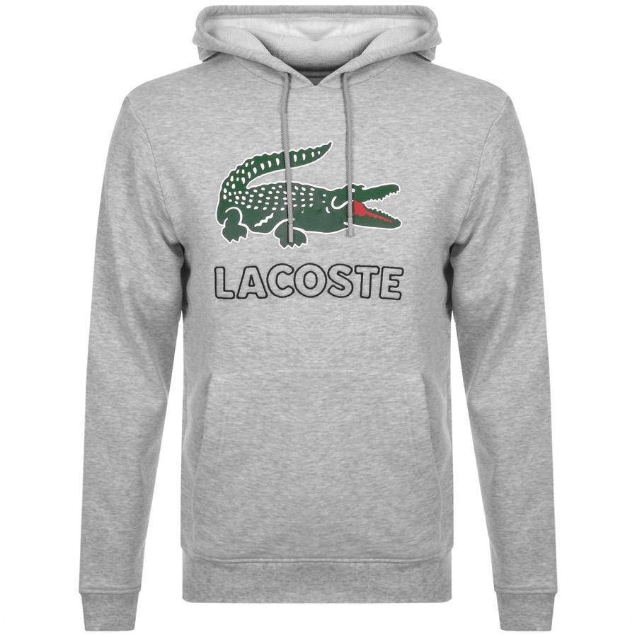 05719ddd Lyst - Lacoste Pullover Logo Hoodie Grey in Gray for Men