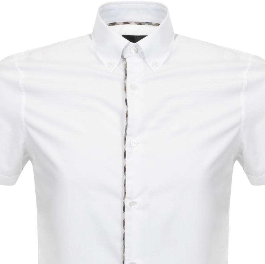 8493085ac Aquascutum Kedge Club Check Trim Shirt White in White for Men - Lyst