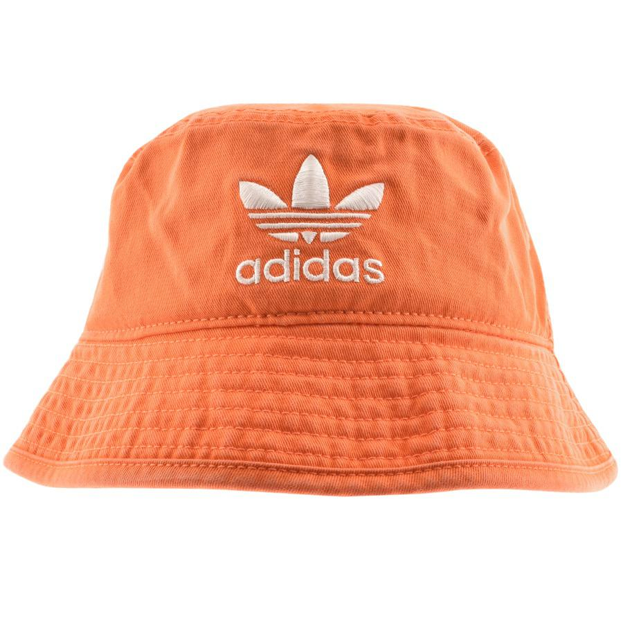 Lyst - adidas Originals Bucket Hat Orange in Orange for Men b096a2e320fd