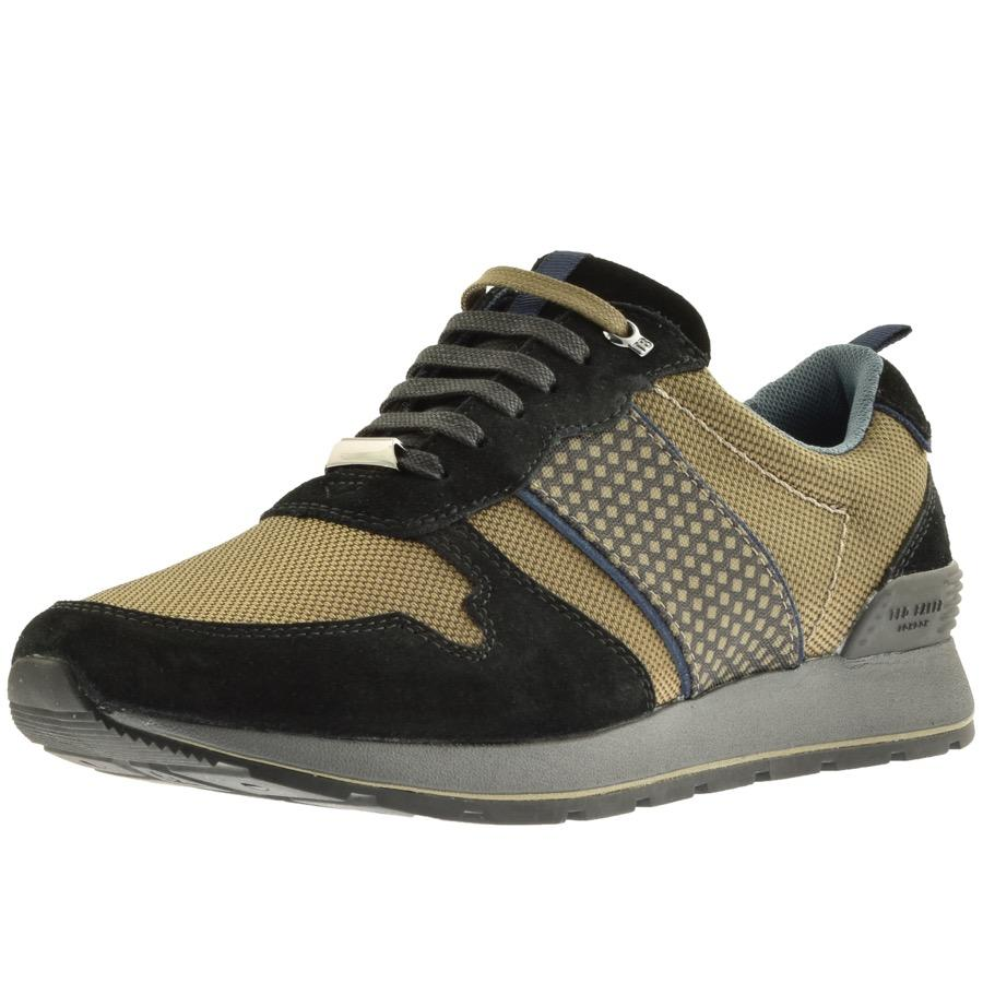 Ted Baker Suede Jaymz Trainers Khaki in