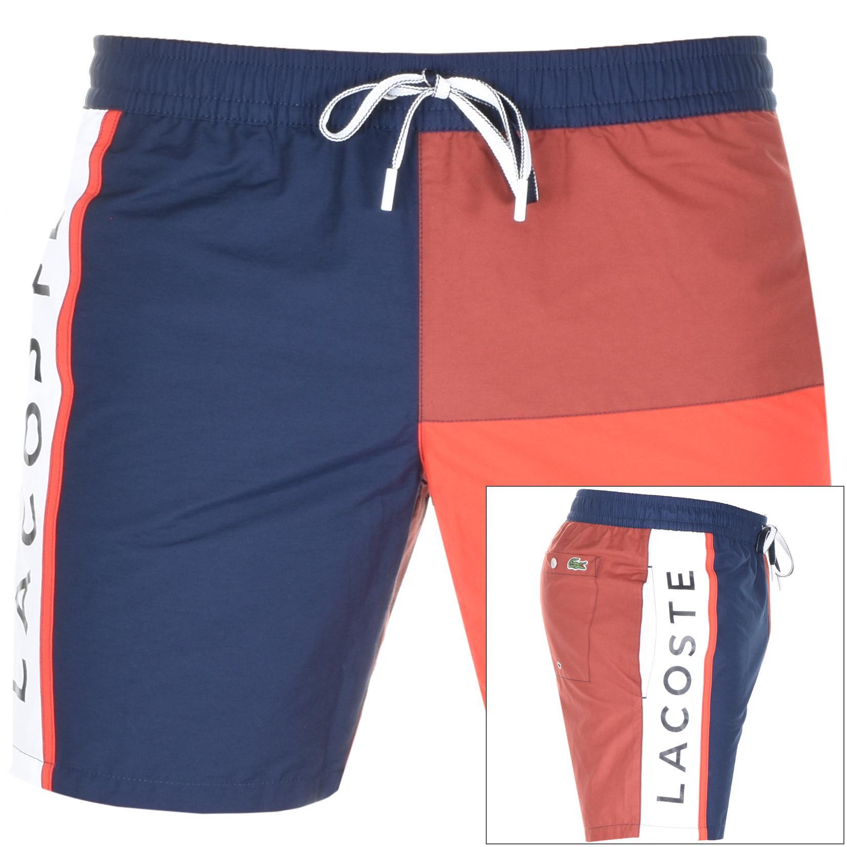 4d6077b41f8 Lacoste Blue Logo Swim Shorts Navy for men