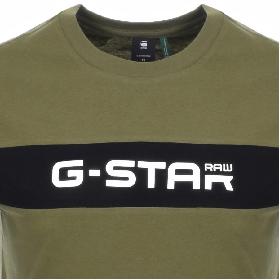 f7cba1234a G-Star RAW - Crew Neck Logo T Shirt Green for Men - Lyst. View fullscreen
