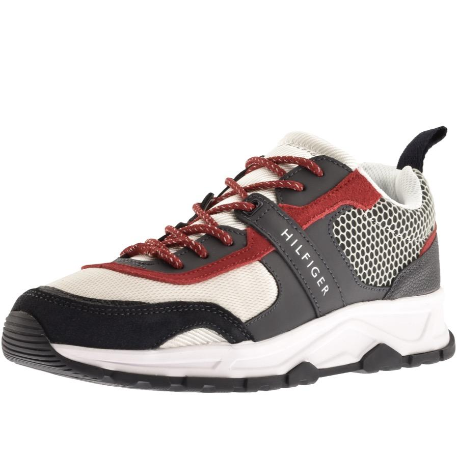 pretty cool best selling shoes for cheap Tommy Hilfiger Lightweight Runner Trainers Red for Men - Lyst