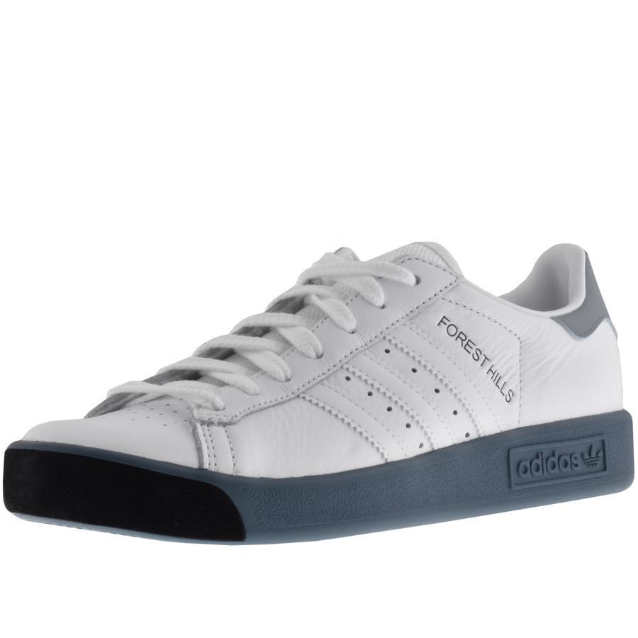 Adidas originali di forest hills formatori bianco in bianco per gli uomini lyst