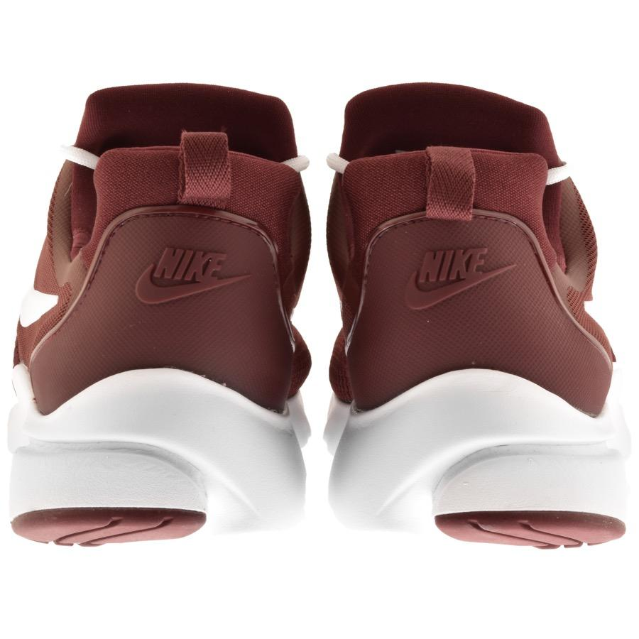Nike Lace Presto Fly Trainers Burgundy