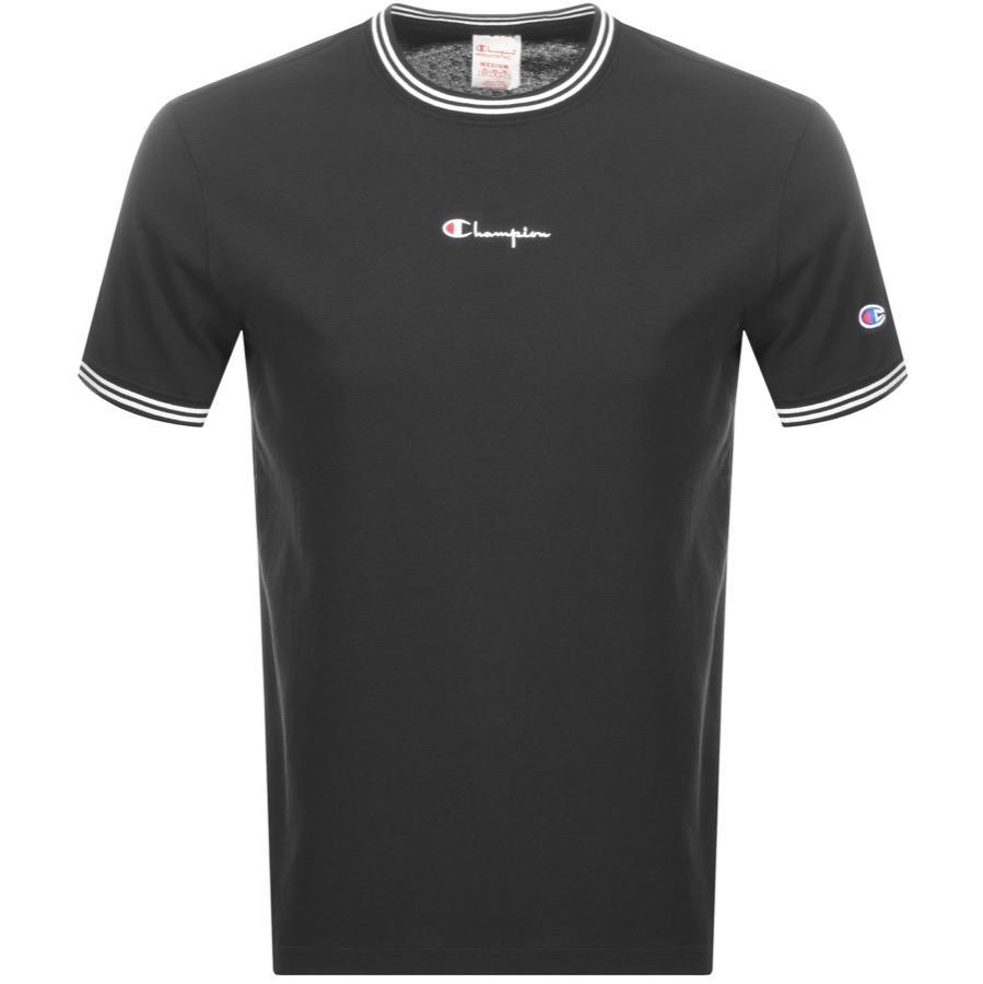 2fb7127e Champion - Crew Neck Logo T Shirt Black for Men - Lyst. View fullscreen