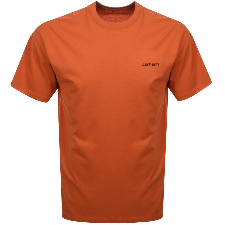 6a36983c518 Carhartt Script T Shirt Orange in Orange for Men - Lyst