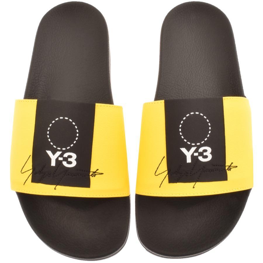 303073543 Y-3 Adilette Sliders Yellow in Yellow for Men - Lyst