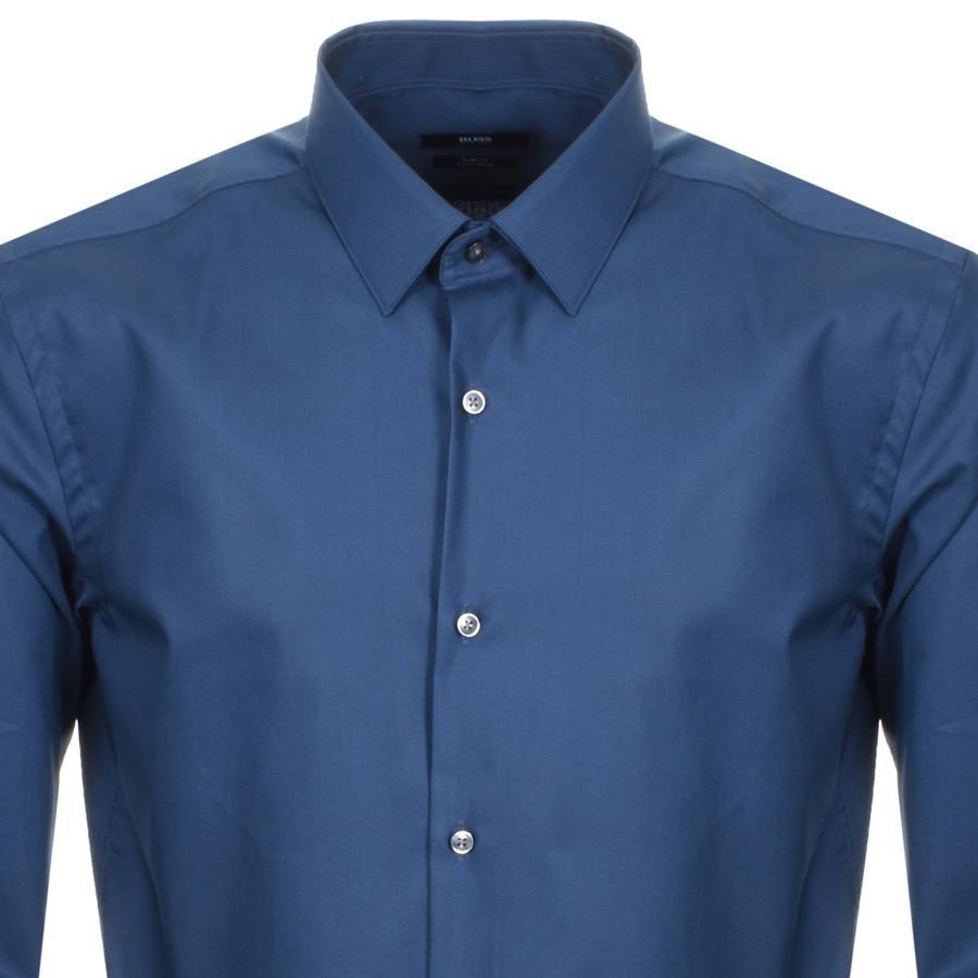 abe0df99e BOSS Slim Fit Isko Shirt Blue in Blue for Men - Lyst