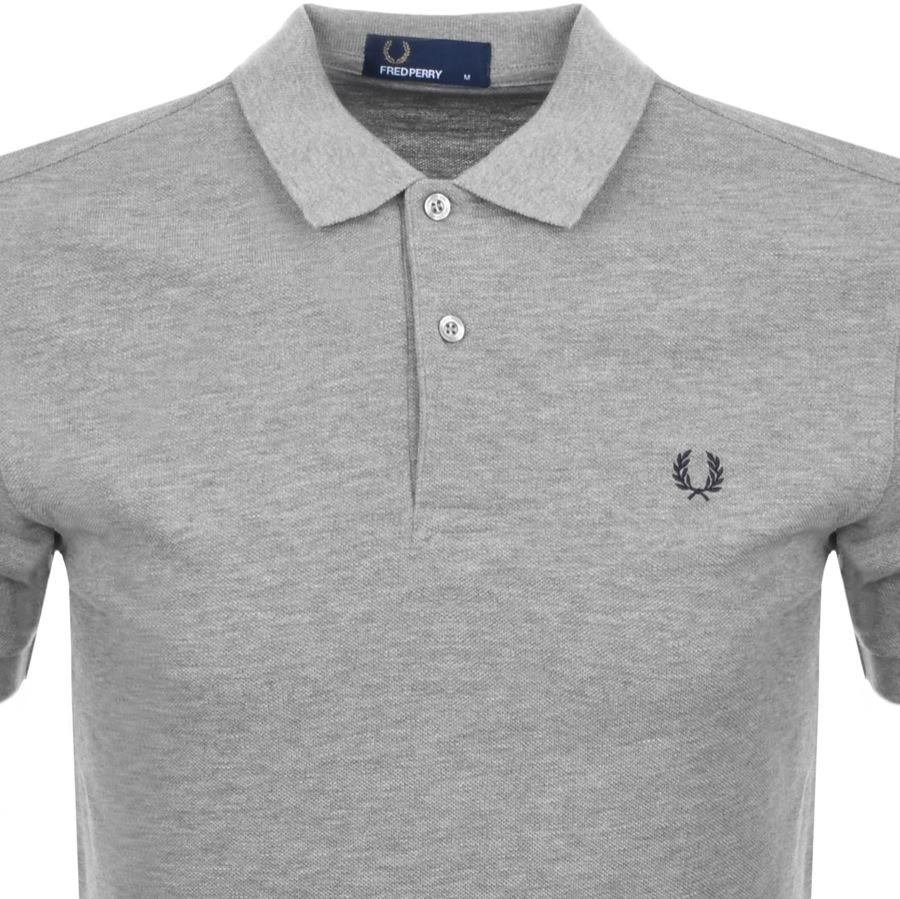 injicera ätlig neutral  Fred Perry Cotton Plain Polo T Shirt Grey in Grey for Men - Lyst