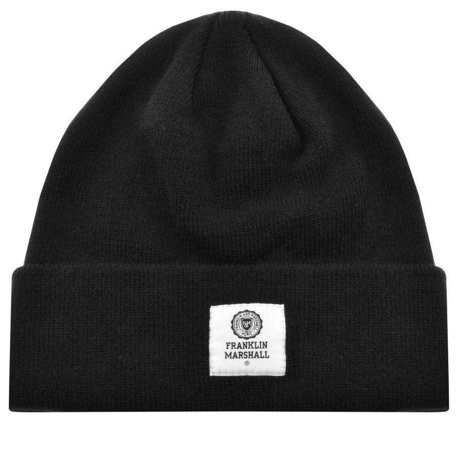 99186b4951b Lyst - Franklin   Marshall Logo Beanie Hat Black in Black for Men