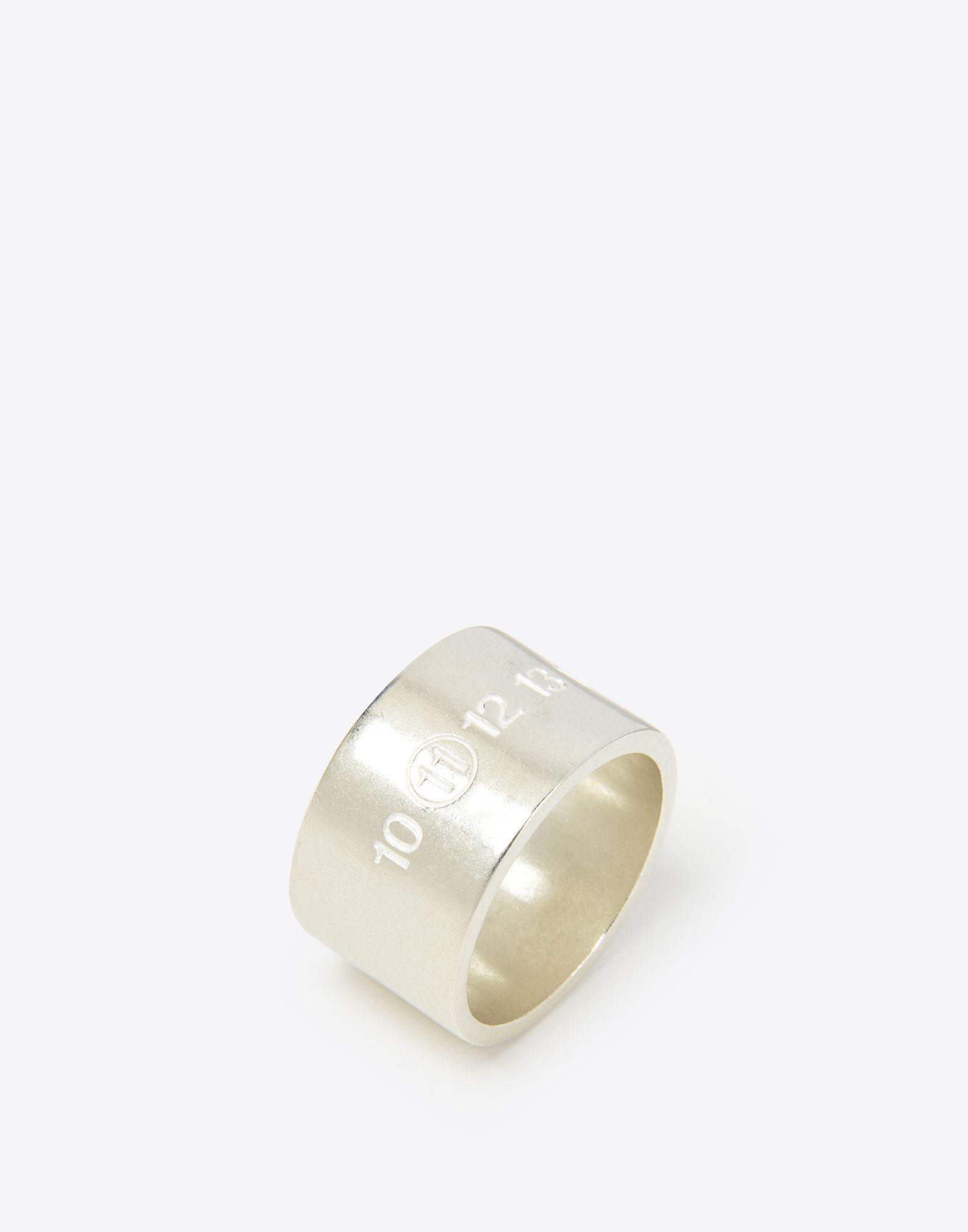 Maison Margiela Silver Logo Cuff Ring in Metallic for Men
