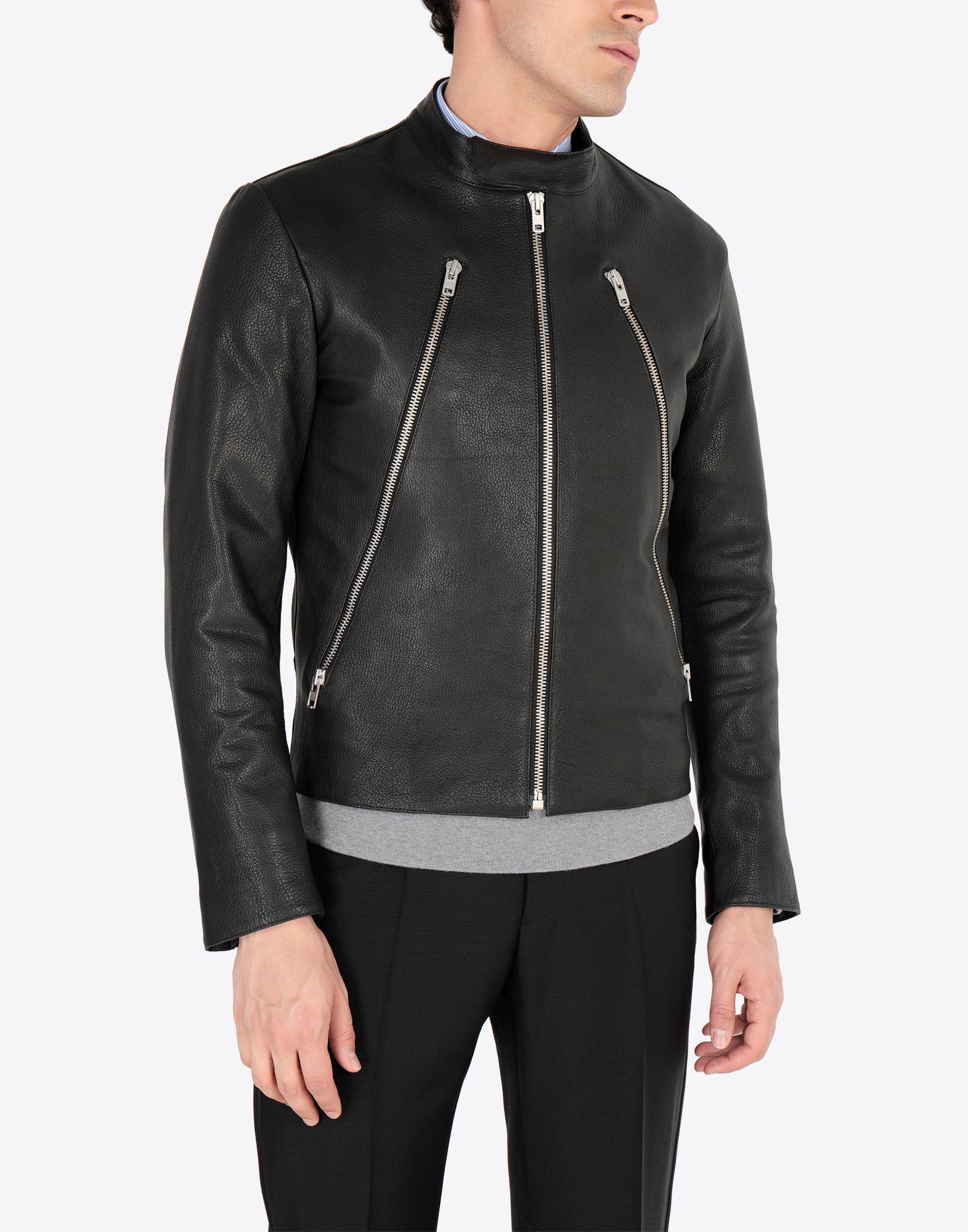 Maison Margiela Leather Sports Jacket in Black for Men