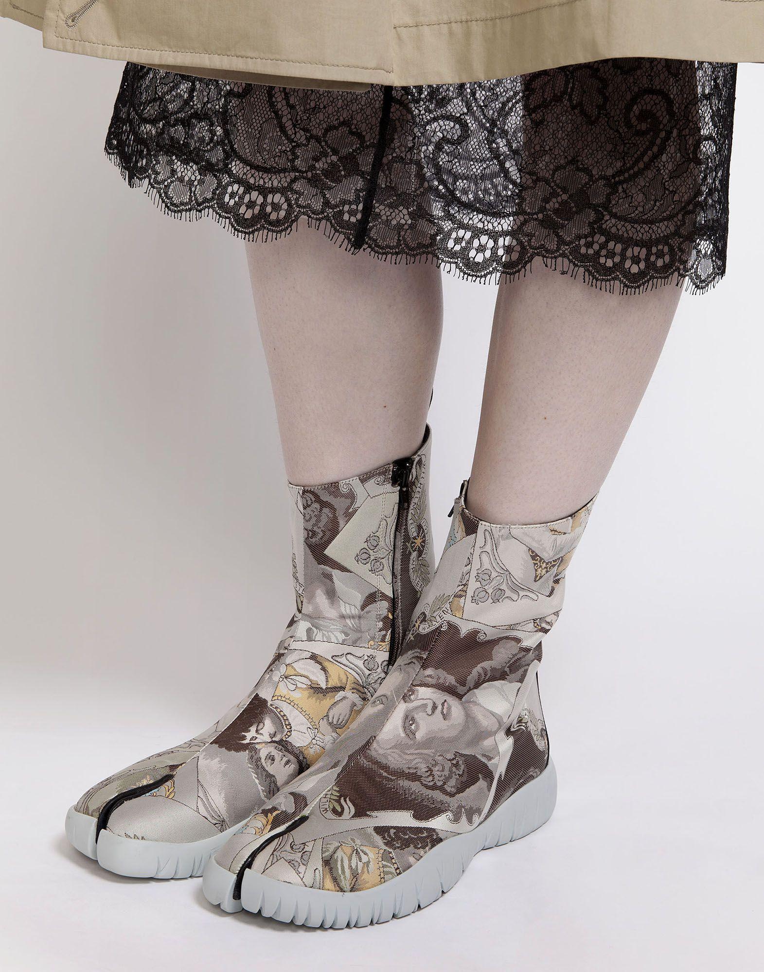 Lyst Maison Margiela Scuba Tabi Boots In Gray