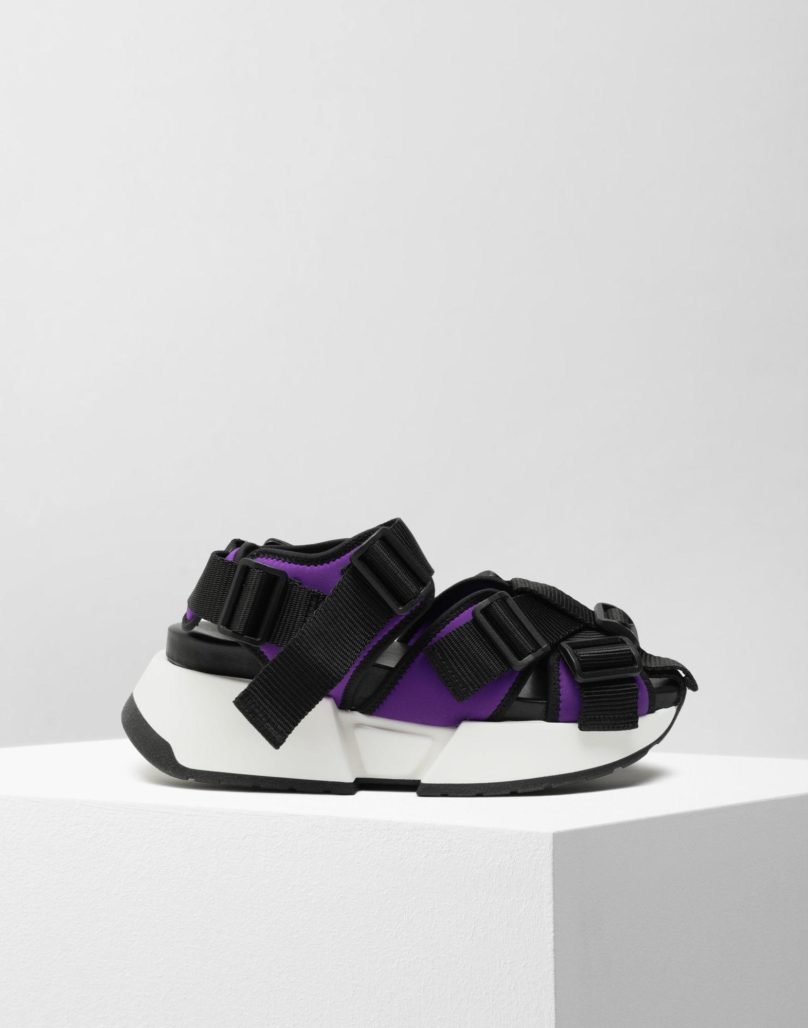 a06993eff55e MM6 by Maison Martin Margiela - Purple Safety Strap Platform Runners - Lyst.  View fullscreen