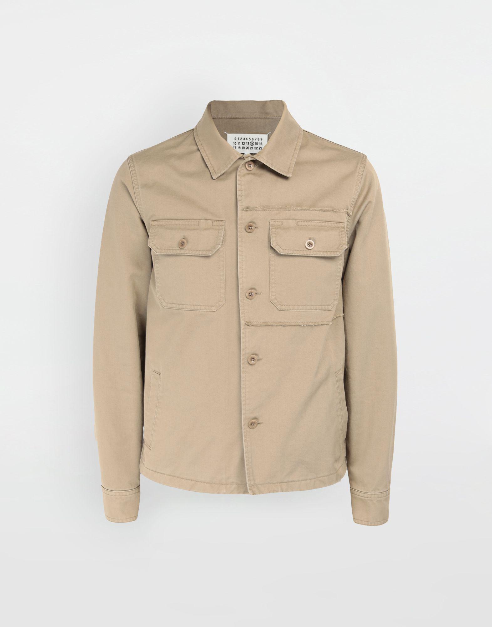 Maison In Shrunken Natural Gabardine Margiela Lyst Shirt Military dxqfadY7