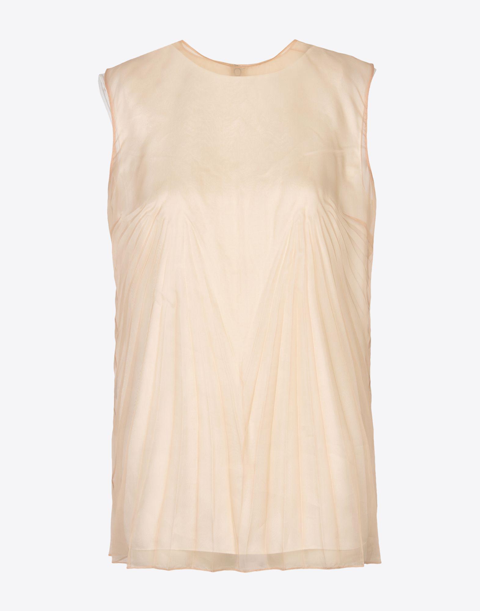 08418a18507 Lyst - Maison Margiela Pleated Silk Organza Top in Natural