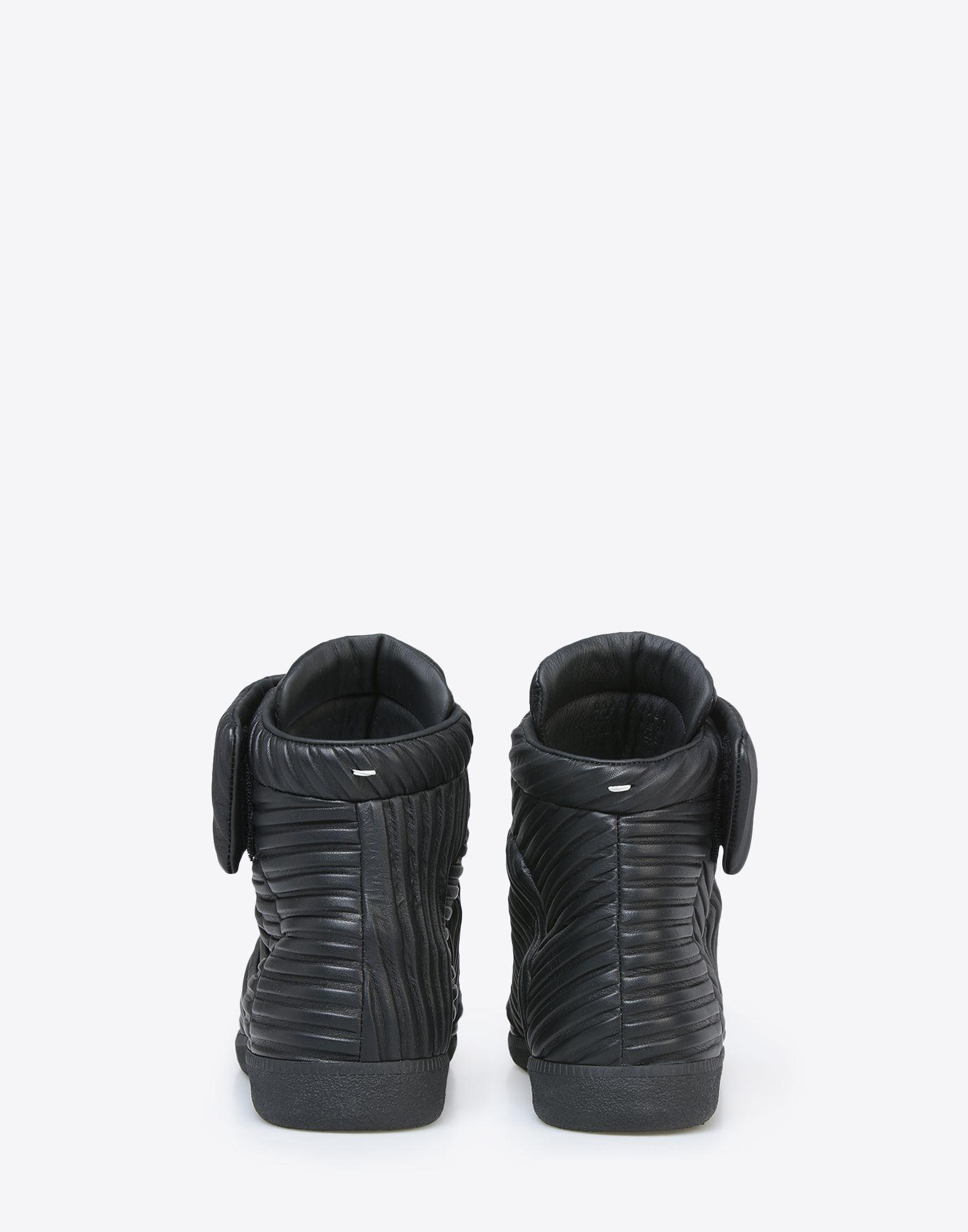 Maison Margiela Quilted Leather Future High Top Sneakers in Black