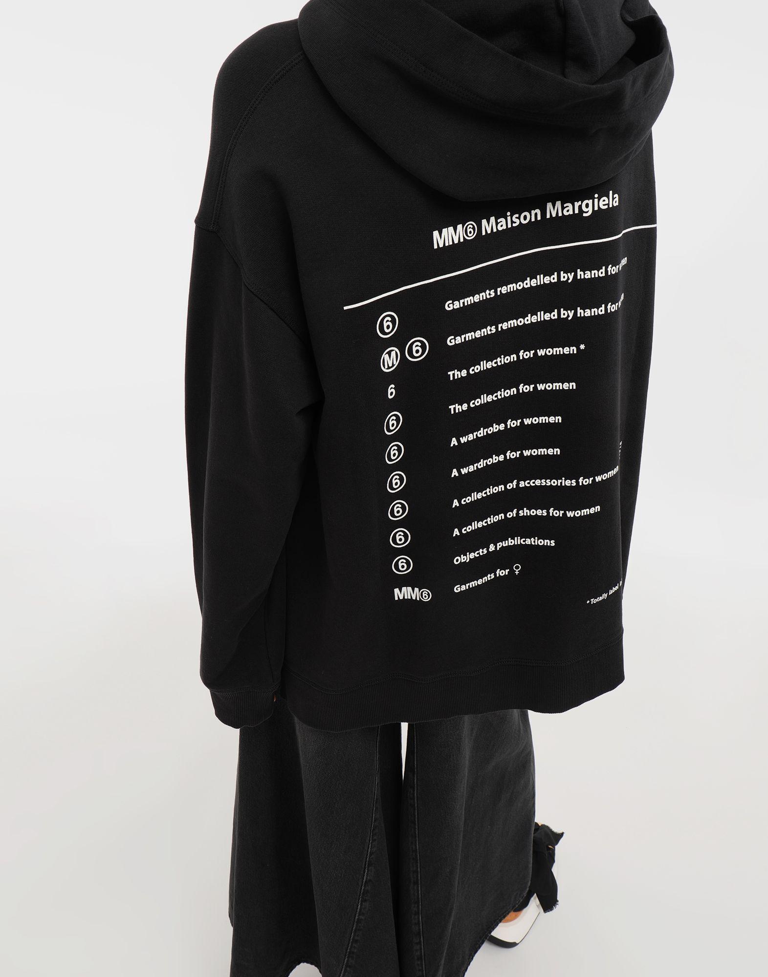 e195c177b2 Lyst - MM6 by Maison Martin Margiela Logo-print Hooded Sweatshirt in Black