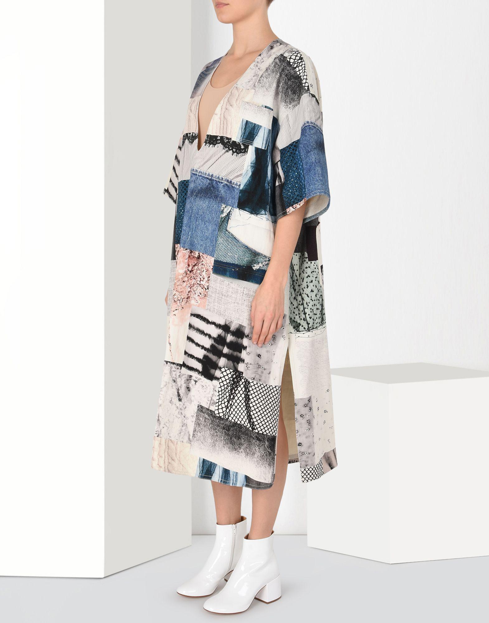 patchwork asymmetric dress - Blue Maison Martin Margiela dXnELgoK