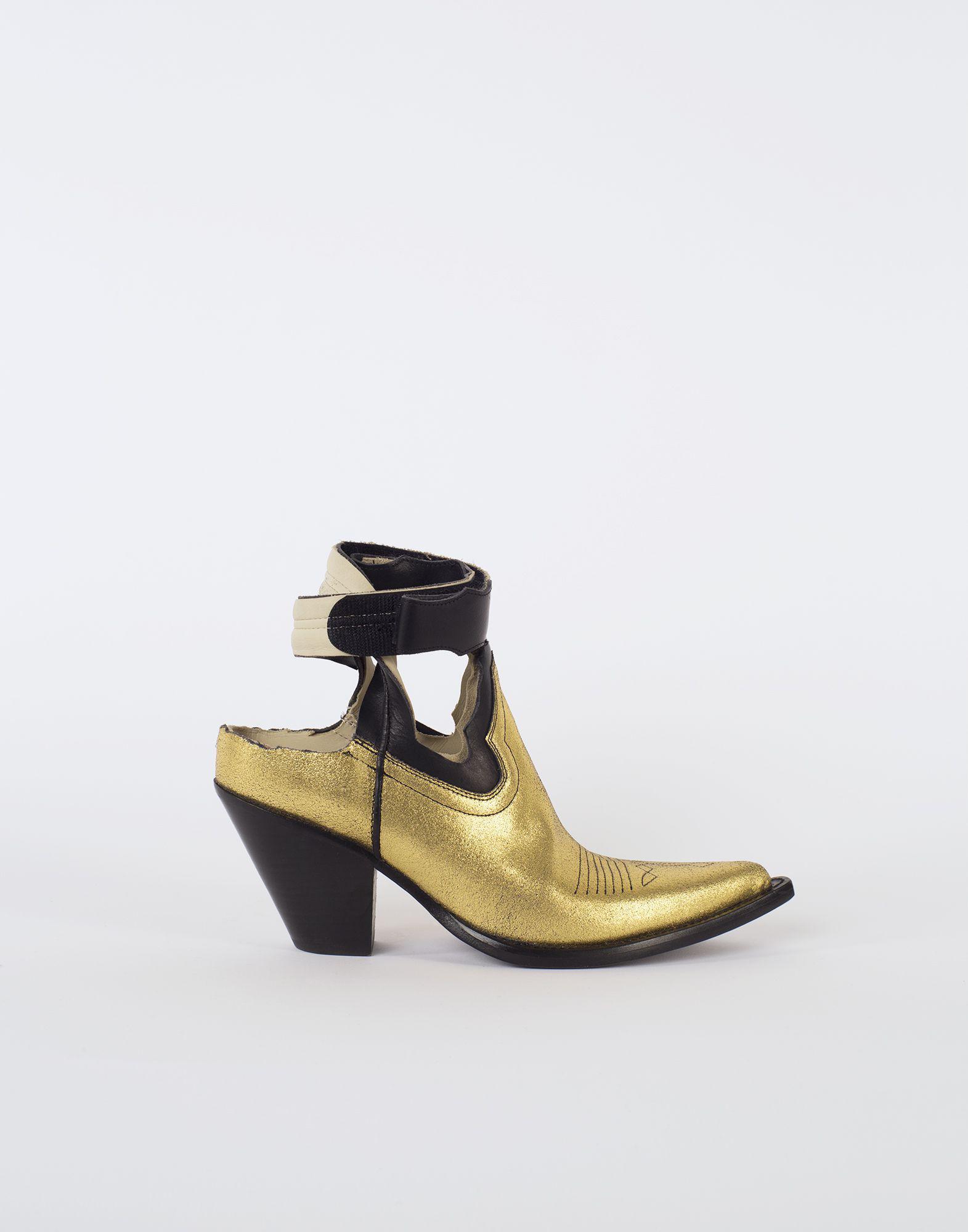 4c049001706 Maison Margiela Metallic Gold Cut-out Cowboy Boots