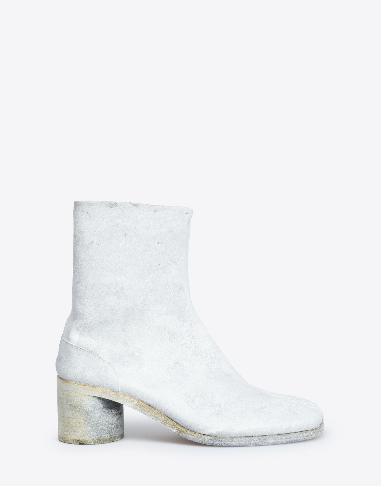 624de6d645e Men's White Painted Tabi Ankle Boots