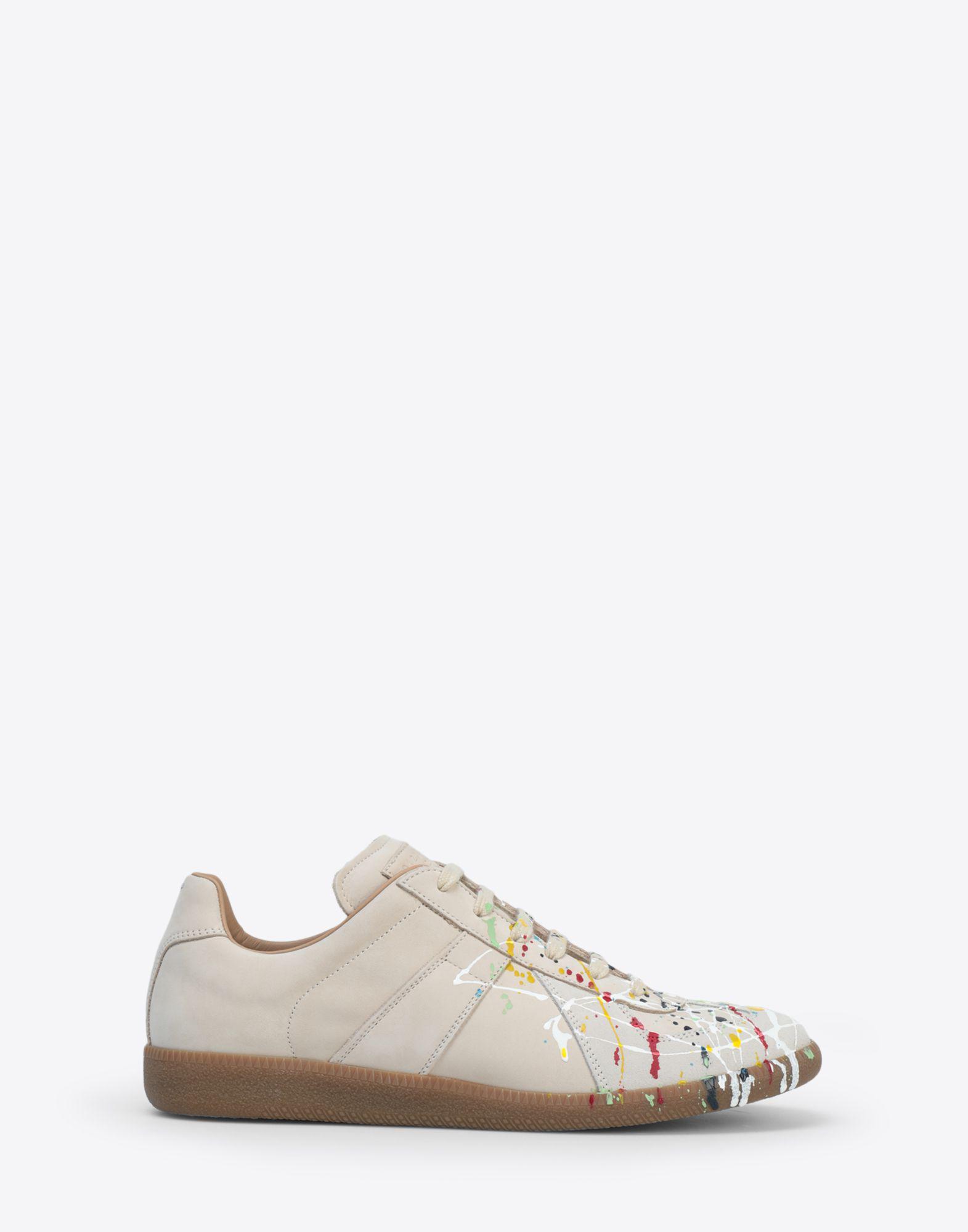 039581e93007 Maison Margiela. Men s Natural Suede Paint Drop  replica  Sneakers
