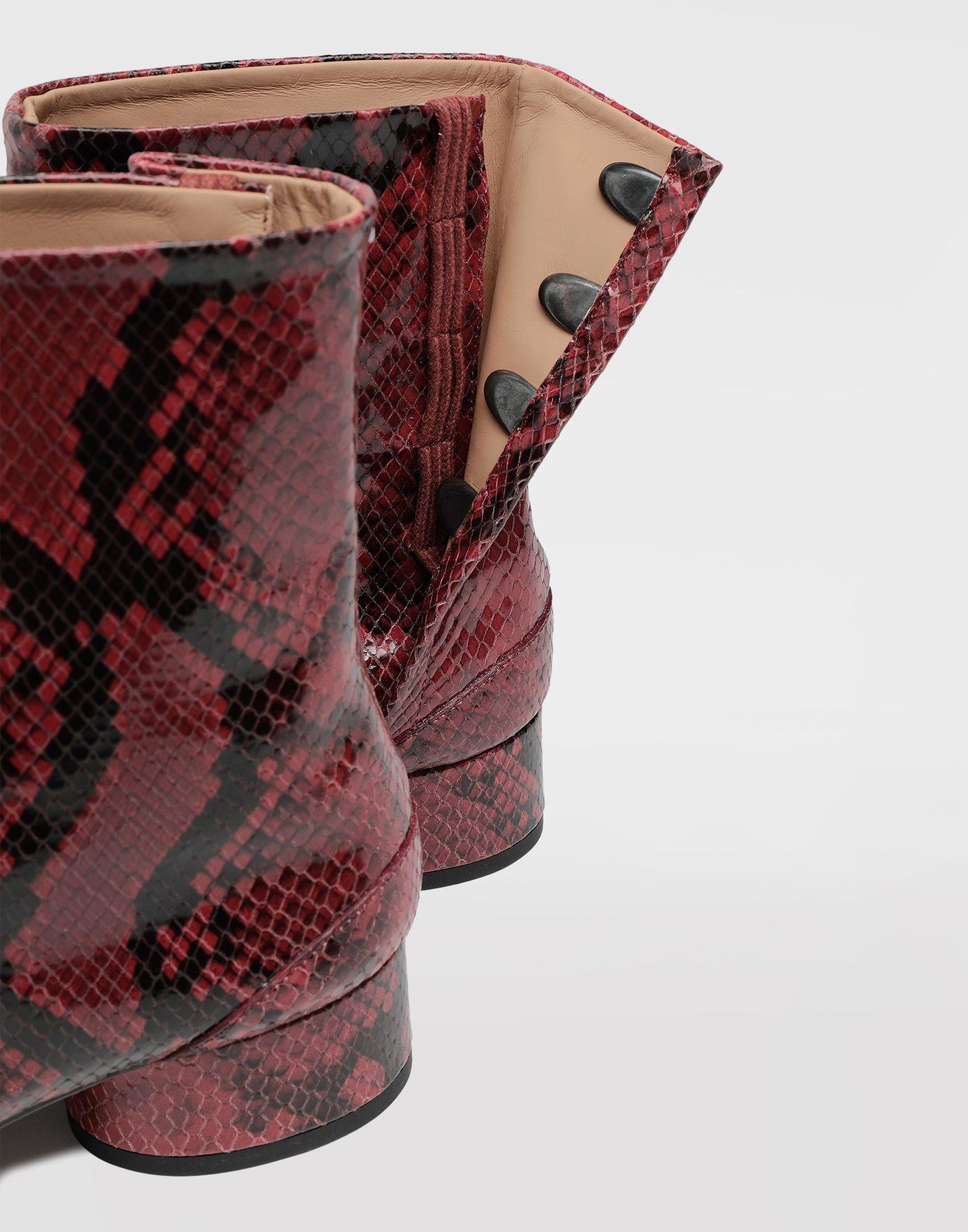 f3e5095f65c Maison Margiela Tabi Python-effect Calfskin Boots - Lyst