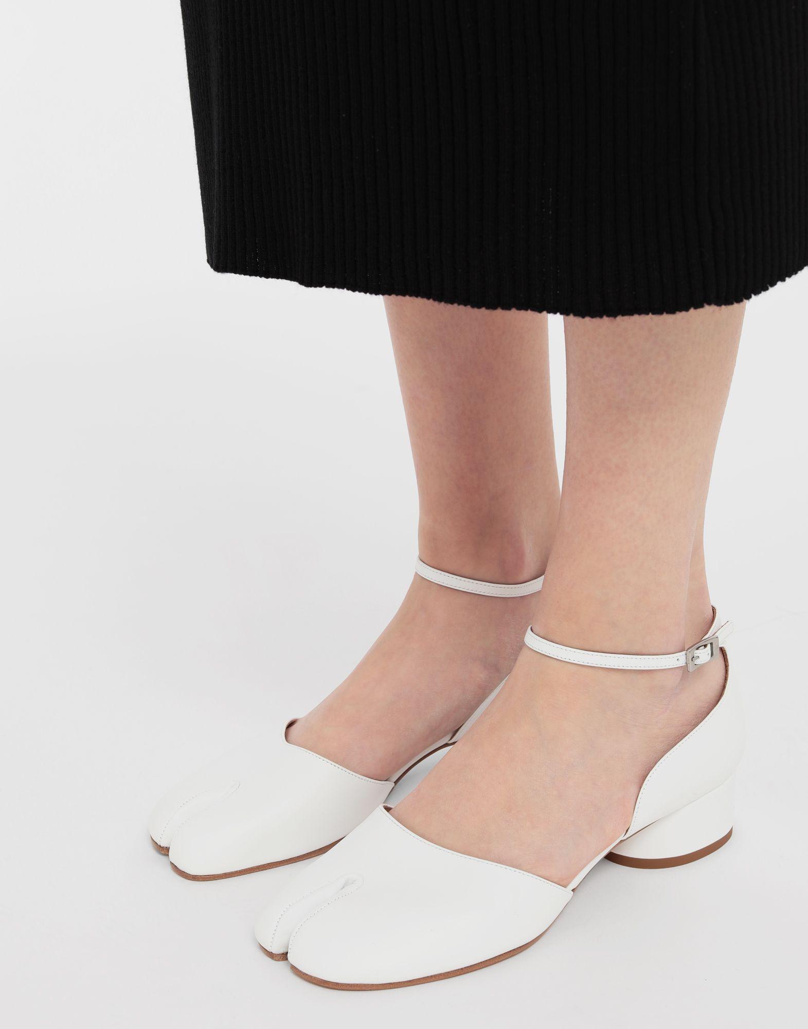 ba6731670ca7 Maison Margiela - White Tabi Leather Ankle Strap Shoes - Lyst. View  fullscreen