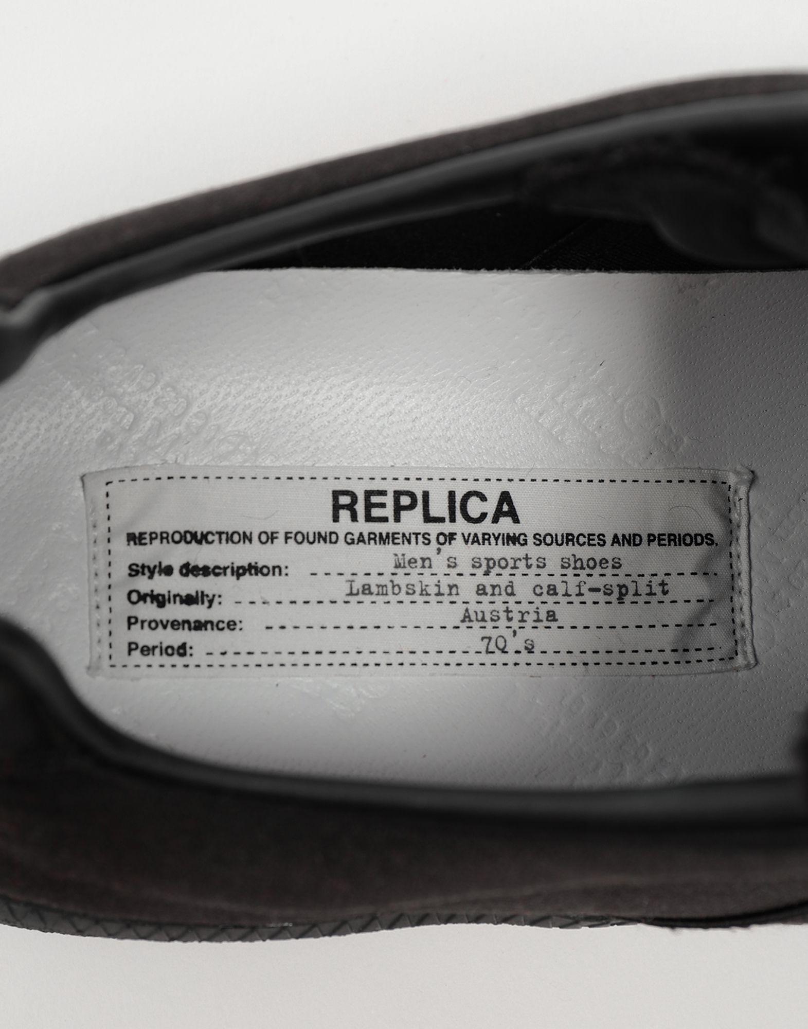 9f1cf7835888 Lyst - Maison Margiela Replica Low Top Satin Sneakers in Black for Men