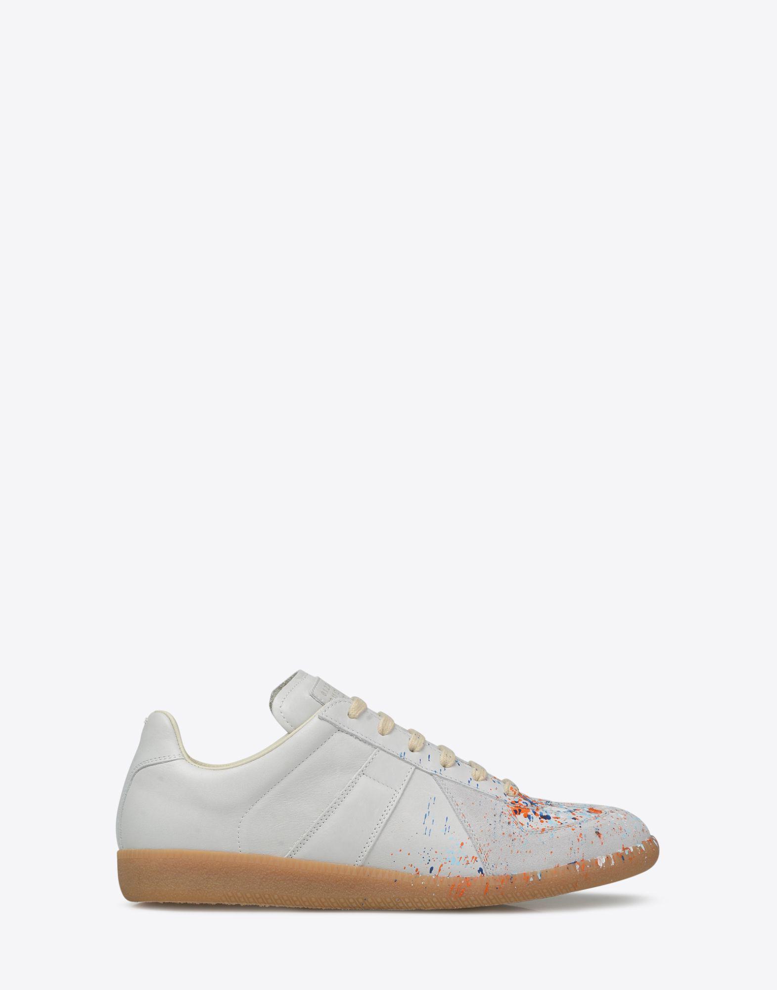 cad1a982ae98 Lyst - Maison Margiela Replica Paint-Splatter Sneakers in Gray for Men