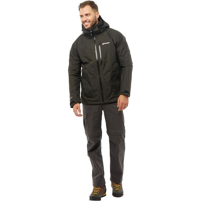 Berghaus Synthetic Island Peak 2 Layer Gore-tex Shell Jacket Dark Grey/black in Navy (Blue) for Men