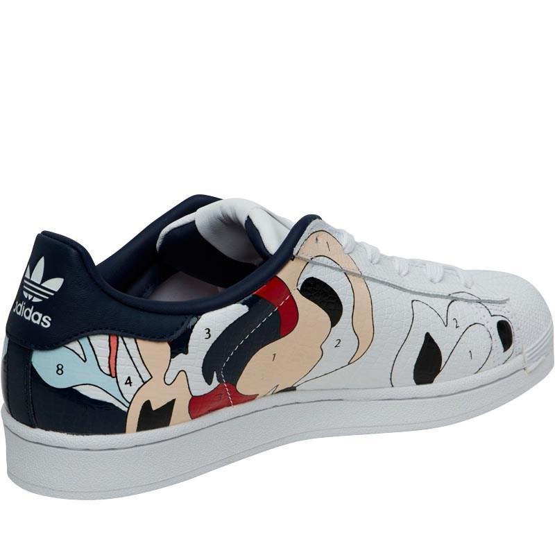 adidas Originals Leather X Rita Ora Superstar Paint Trainers White/white/night Indigo
