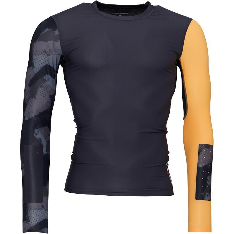 3cf67255 Reebok Synthetic Crossfit Long Sleeve Compression Top Lead in Gray ...