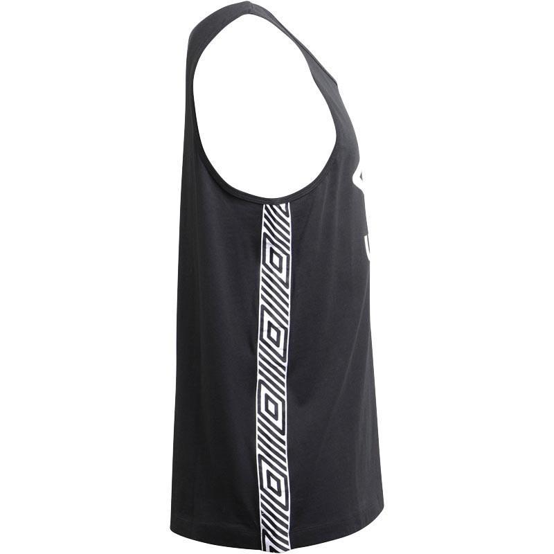 a453b6542e629 Umbro Beach Taped Vest Black white in Black for Men - Lyst