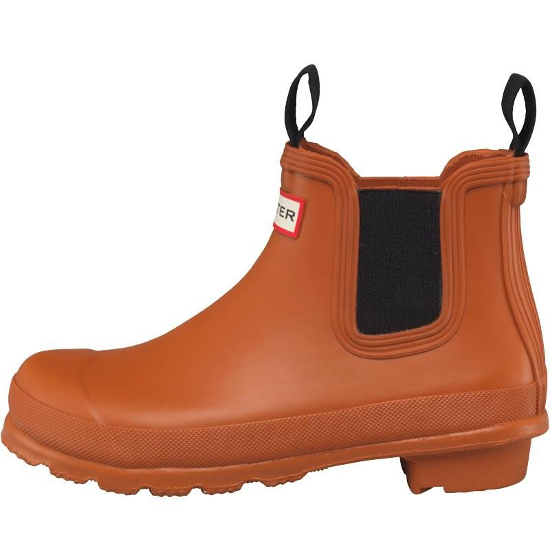 HUNTER Rubber Original Chelsea Boots Iron Oxide in Brown