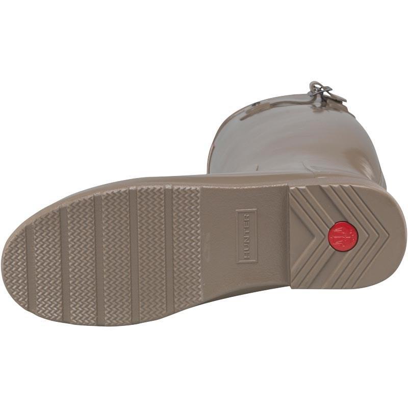 HUNTER Rubber Original Refined Gloss Wellington Boots Clay