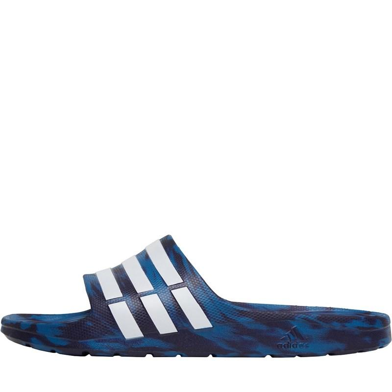 08691b4be88 adidas Duramo Slides Core Blue footwear White noble Ink in Blue for ...