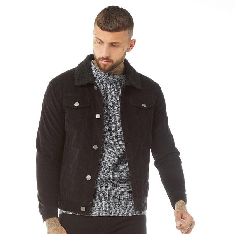Brave Soul Mens Prestwich Long Sleeve Cord Button Up Casual Demin Jacket Coat