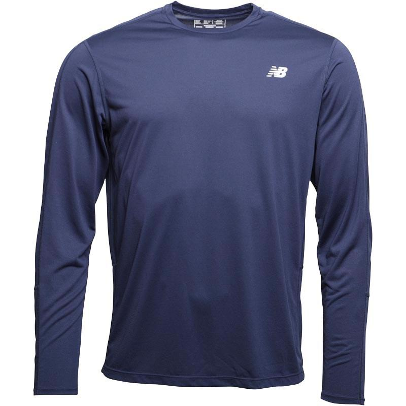 c36dbfeae54 New Balance Accelerate Long Sleeve Running Top Pigment Navy in Blue ...