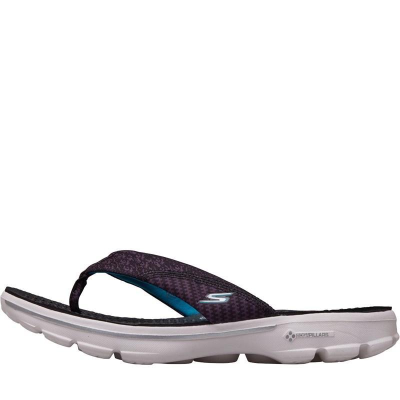 f7678f040c Skechers - Multicolor Gowalk Pizazz Toe Post Sandals Black/white - Lyst.  View fullscreen